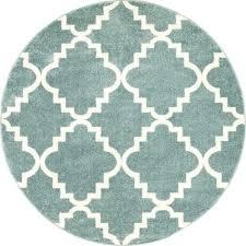 teal round rug lulus lattice light blue modern pink and runner