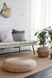 Fine Outdoor Floor Seating Rattan Ottomans Are Cheap At Ikea They