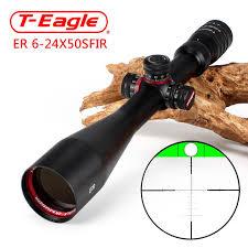 <b>T Eagle ER 6 24X50 SFIR</b> Hunting Riflescope Side Parallax Glass ...