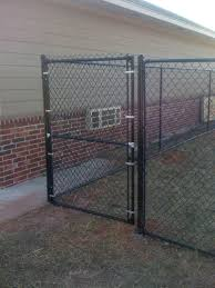 6 black chain link gate before touch up paint fence installation repair vinyl oklahoma city