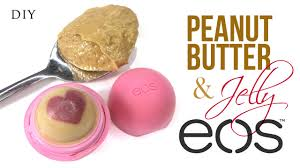 diy eos lip balm with peanut er and jelly scent