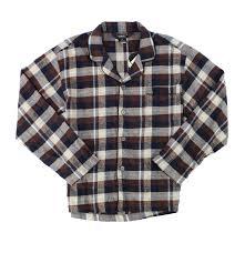 Details About Gioberti New Brown Mens Size Medium M Nightshirt Flannel Plaid Sleepwear 34 796