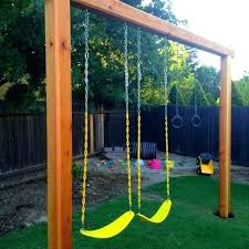 how to build a wooden swing set backyard swings outdoor build your own wooden swing set