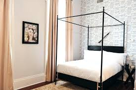 Details About Girls Twin Size Metal Canopy Bed Frame Silver Finish ...