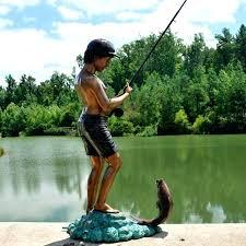 garden fisherman statue garden decor boy fishing statue bronze boy sculpture bronze boy decor bronze boy fishing bronze boy sculpture garden