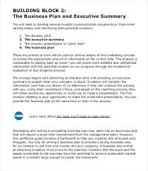 Executive Summary Format Template Business Doc Example Word