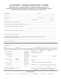 Student Registration Form Template Free Download School Student Registration Form Format Sample Html In Word Excel