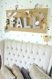 Fall Burlap & Metal Letter Wall Hanging | 22 Festive Burlap Decorating  Ideas To Make This