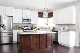 dark island white cabinets