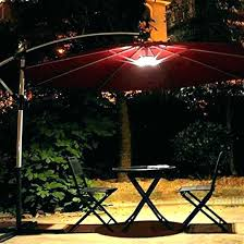 outdoor umbrella lights offset patio led co amazing with regarding light