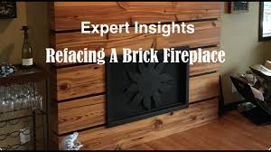 refacing a brick fireplace