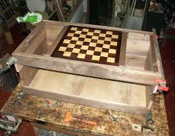 chessboard coffee table in progress ruff case with surface and chess board plans