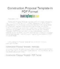 Bid Proposal Template Construction How To Write A Business