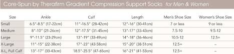 Jobst Travel Socks Size Chart Therafirm 10 15 Mmhg Light Support Knee High Compression