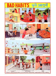 Safety Habits Chart Indian Educational Chart School Posters India School