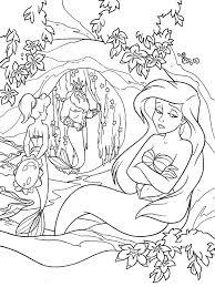 Ariel La Petite Sirene Retour En Enfance Coloriages Difficiles