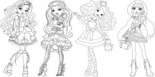Small Picture 10 Ever After High Coloring Pages