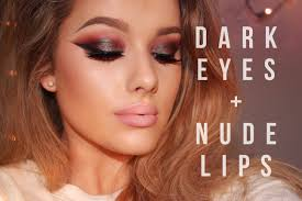 night out clubbing make up tutorial dark eyes lips rachel leary you