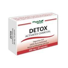 DETOX <b>activated charcoal</b>, <b>260</b> mg, Phyto Wave, 20 capsules