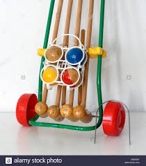 Game With Wooden Sticks Vintage game set for Croquet made by Favre Made in France 62