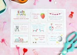 Free Printable Valentines Lunch Notes For Kids