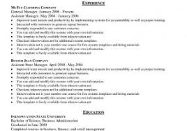 Middle management resume