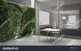 office gardening. Vertical Gardening, Office Courtyard, 3d Illustration Gardening