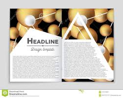 Chemistry Cover Page Designs Abstract Layout Background Set For Art Template Design