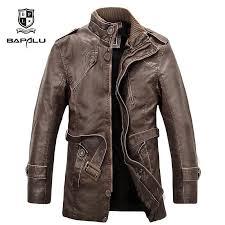 new leather jacket men s wool coat long fur collar coat men s leather jacket warm windbreaker leisure jacket coat m 4xl c18110901 suede jacket windbreaker