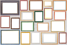 picture frames on wall. Wall Photograph - Various Wooden Photo Frames Hang On A By Aleksandr Volkov Picture