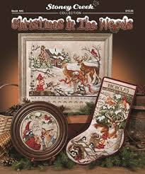 Cross Stitch Stocking Patterns Enchanting Stoney Creek Christmas In The Woods Cross Stitch Pattern