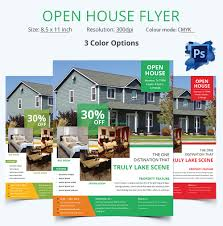 open house flyer psd format editable open house flyer template