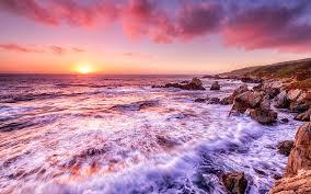 Pink Ocean Desktop Wallpapers - Top ...