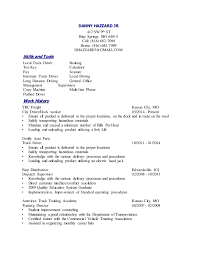 danny resume - Dock Worker Resume Sample