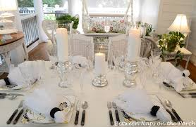 elegant table settings. Light, Elegant Table Setting With Mercury Glass Centerpiece Settings Y