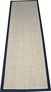 dean desert black natural sisal hall entrance landing slip resistant carpet runner rug 29 x12