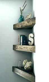 floating wooden shelf bathroom wood shelves reclaimed corner