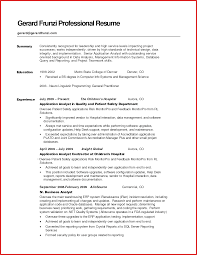 Awesome Sample Resume Summary Formal Letter