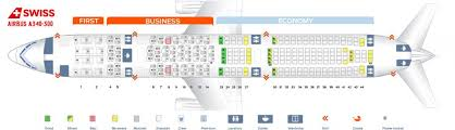 Airbus A340 Jet Seating Chart Swiss Fleet Airbus A340 300 Details And Pictures