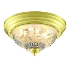 hampton bay 13 in 2 light polished brass flushmount with frosted glass shade