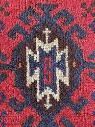 8 of 10 vintage turkish rug saddlebags red blue with s monogram excellent condition