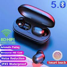 <b>A6x TWS Bluetooth</b> 5.0 <b>Earphones</b> Touch HD Stereo <b>Wireless</b> ...