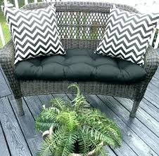 outdoor settee cushions set of 3 clearance wicker patio replacement seating cushion garden indoor bench