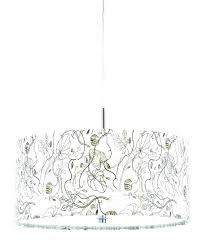 linen chandelier