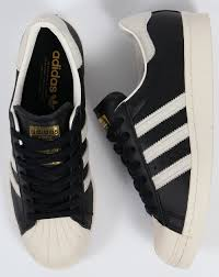 adidas shoes superstar black and white. adidas superstar 80s trainers black/white/gold shoes black and white w