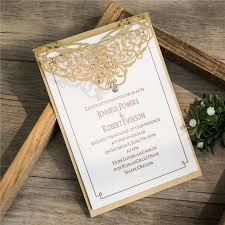 Elegant Invitation Cards Wedding Elegant Pearl Laser Cut Wedding Invitation Cards