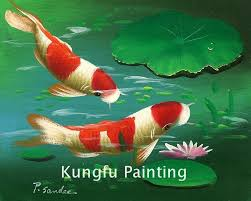 2018 ani443 100 hand painted good quality canvas animal art koi fish painting for wall art decor from fineart 59 3 dhgate com