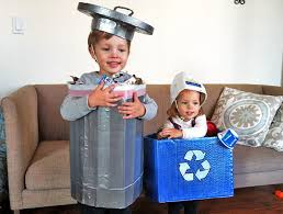 trashcan and recycling bin costume recycled costume