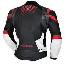 gmx lite vented leather jacket color black red black red back style