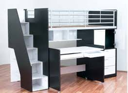 Bunk Beds Evan Single Bunk Bed With Desk And Storage Bambino Home